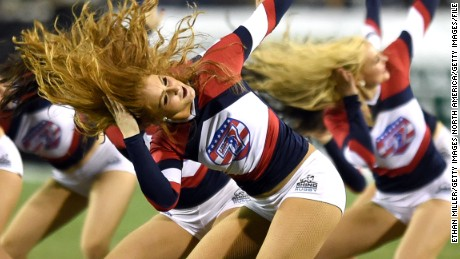 LAS VEGAS, NV - FEBRUARY 14:  Members of the USA Sevens Sweethearts perform during the USA Sevens Rugby tournament at Sam Boyd Stadium on February 14, 2015 in Las Vegas, Nevada.  (Photo by Ethan Miller/Getty Images)