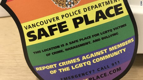 Safe Place uses stickers to designate local businesses as places where hate crime victims can shelter while waiting for the police.