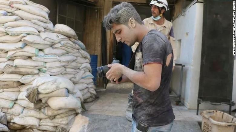 "Khaled Khatib worked on the Oscar-winning documentary short ""The White Helmets."