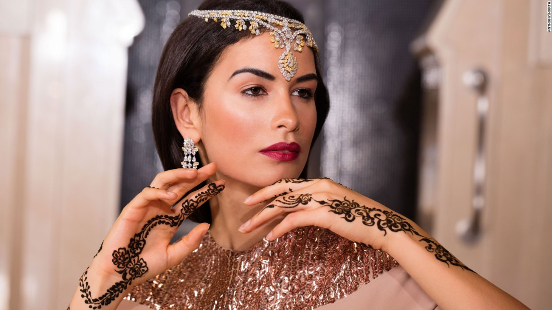 "<strong>Fairytale shoot: </strong>In one day alone, a model wore over $20 million worth of jewelry. ""It was Cinderella stuff I wanted,"" says Horth."