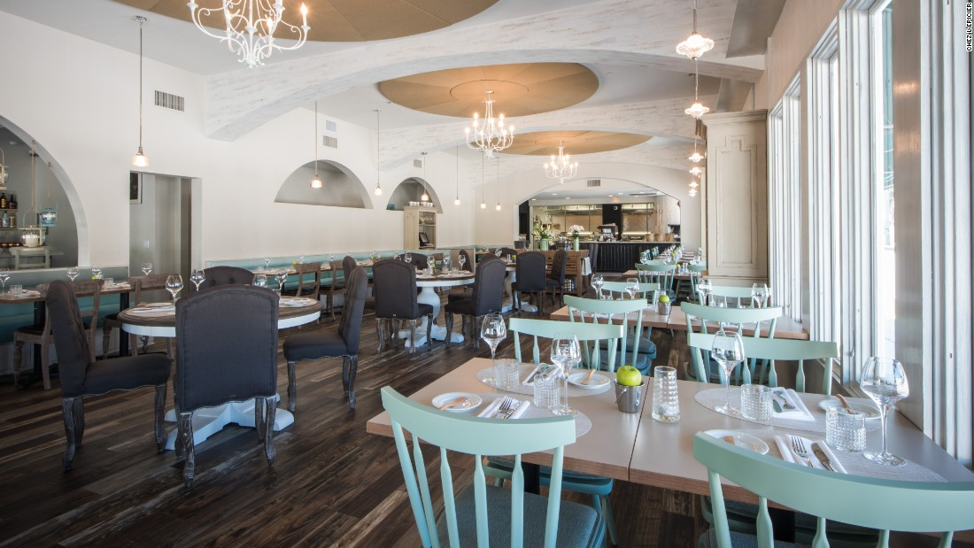 <strong>Chez L'Épicier. </strong>Chef Laurent Godbout chose to take his haute cuisine casual at this laid-back bistro, his first restaurant outside of Canada.