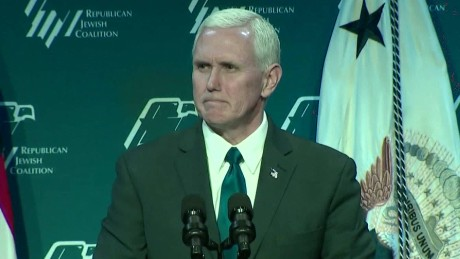 Pence: Anti-Semitism has no place in US
