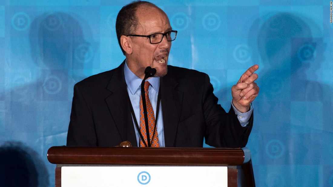 "Former Labor Secretary <a href=""http://www.cnn.com/2017/02/25/politics/dnc-chair-election/"" target=""_blank"">Tom Perez</a> won the chairmanship for Democratic National Committee during the general session of the DNC winter meeting in Atlanta on Saturday, February 25."