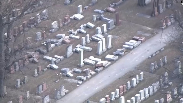 Second Jewish cemetery vandalized in a week