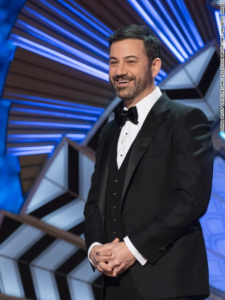 THE OSCARS(r) - The 89th Oscars(r)  broadcasts live on Oscar(r) SUNDAY, FEBRUARY 26, 2017, on the ABC Television Network. (Patrick Wymore/ABC via Getty Images) JIMMY KIMMEL