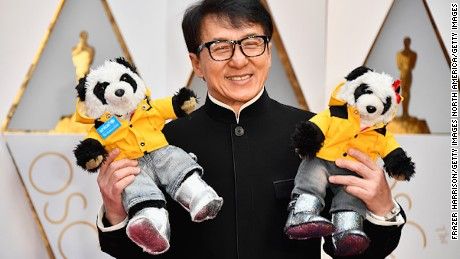 HOLLYWOOD, CA - FEBRUARY 26:  Actor Jackie Chan attends the 89th Annual Academy Awards at Hollywood & Highland Center on February 26, 2017 in Hollywood, California.  (Photo by Frazer Harrison/Getty Images)