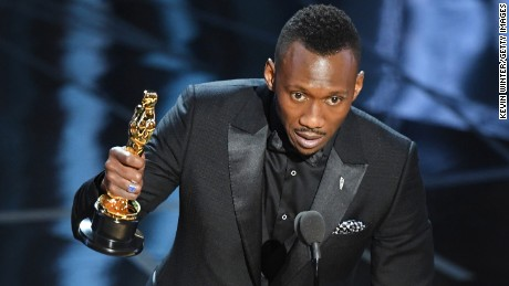Mahershala Ali accepts the best supporting actor Oscar for  'Moonlight' on February 26.