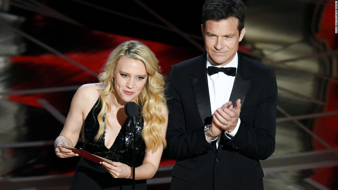 Kate McKinnon and Jason Bateman present the awards for costume design as well as makeup and hairstyling.