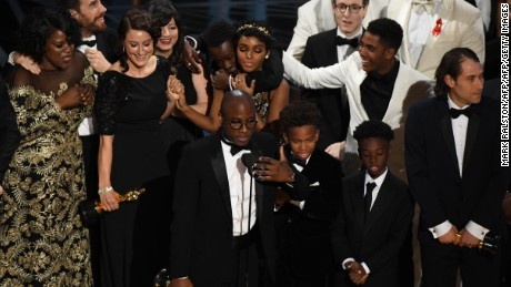 """Barry Jenkins speaks after """"Moonlight"""" won for best picture"""