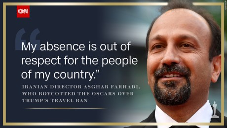 Asghar Farhadi, 'Salesman' director who protested travel ban, wins Oscar
