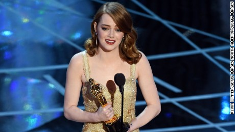 HOLLYWOOD, CA - FEBRUARY 26:  Actress Emma Stone accepts Best Actress for 'La La Land' onstage during the 89th Annual Academy Awards at Hollywood & Highland Center on February 26, 2017 in Hollywood, California.  (Photo by Kevin Winter/Getty Images)
