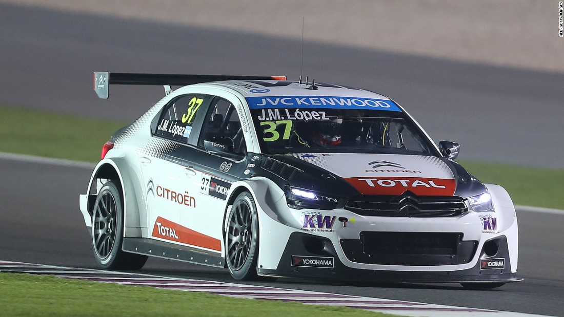 Lopez, seen here competing for Citroen Racing in Doha, won the World Touring Car Championship in 2014, 2015 and 2016.