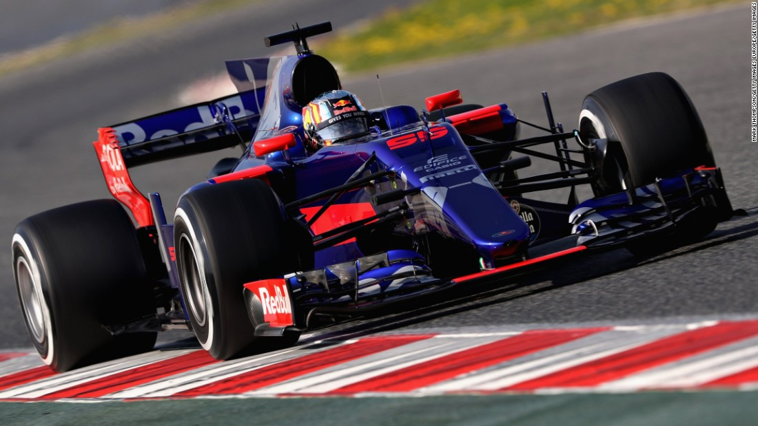 Red Bull's junior team Toro Rosso launched its new car the day before the start of winter testing. Spain's Carlos Sainz drives the STR12 at Circuit de Catalunya.