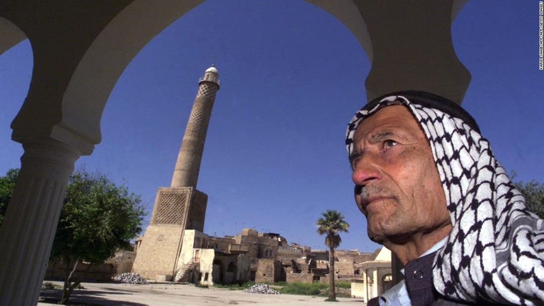 "Built 900 years ago, this mosque is better known by locals as <a href=""https://www.wmf.org/project/al-hadba%E2%80%99-minaret"" target=""_blank"">al-Hadba'</a> -- or the hunchback -- due to its tower's distinct tilt. The 150 foot (45 meter) minaret is one of the few original elements of the medieval Nur al-Din complex, which has been placed on the <a href=""https://www.wmf.org/watch"" target=""_blank"">World Monuments Watch</a> due to its risk of destruction. <a href=""http://www.unesco.org/new/en/iraq-office/about-this-office/single-view/news/works_starting_at_al_hadba_minaret/"" target=""_blank"">UNESCO</a> is working with the Iraqi government to safeguard the icon."