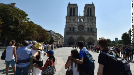 Notre-Dame Cathedral is one of the most famous attractions associated with Victor Hugo's novels.