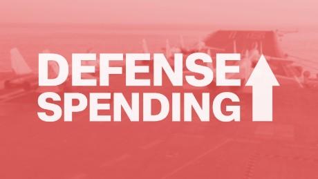 defense spending up card