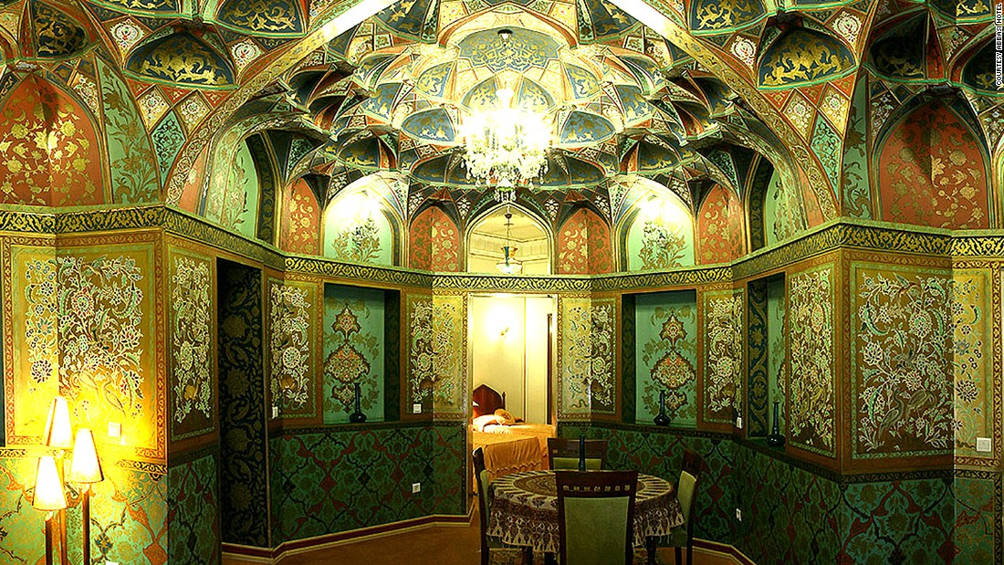 <strong>Safavid Suite: </strong>Arguably the most stunning room in the hotel, the two-bedroom Safavid Suite was inspired and named after one of the most significant dynasties in Iranian history.