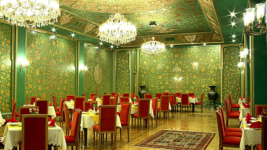 <strong>Zarrin Hall: </strong>The event space, decorated in gold leaves and green paint, is available for seminars, conferences and ceremonial receptions.