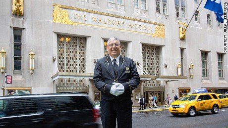 "Jillali ""Jim E"" Elidrissi, bellman at the Waldorf Astoria from 1966 to 2017"