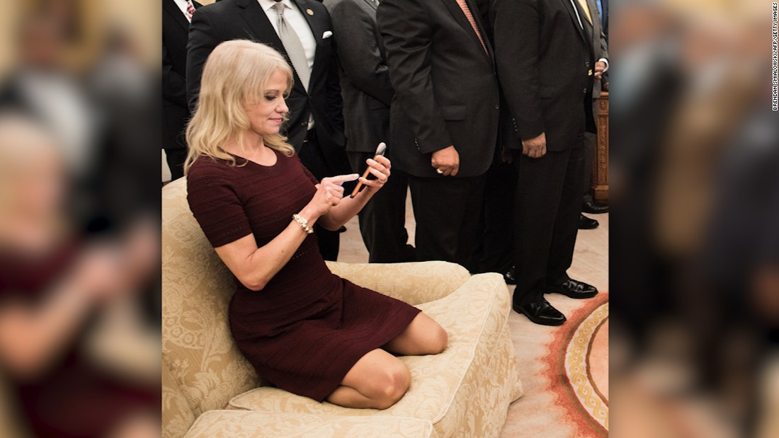 Kellyanne Conway Couch Photo Sparks Memes Cnn Video