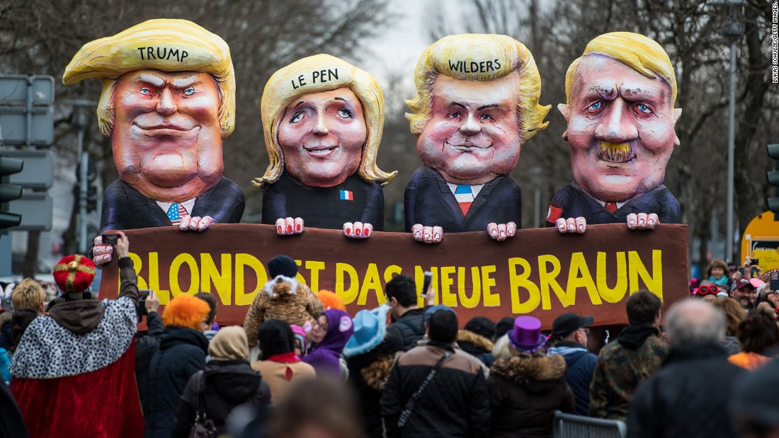 <strong>Dusseldorf, Germany: </strong>Political satire plays a big role in Dusseldorf's annual Rose Monday parade. US President Donald Trump, the rise of the populist far right across Europe, and Germany's upcoming national elections all featured heavily in 2017's floats. <br />