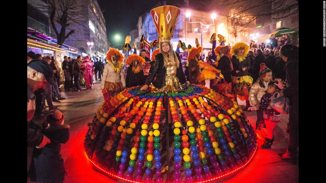 <strong>Strumica, Macedonia: </strong>Strumica Carnival marks the start of the Eastern Orthodox Lenten period and is one of the biggest celebrations of its kind in Macedonia.