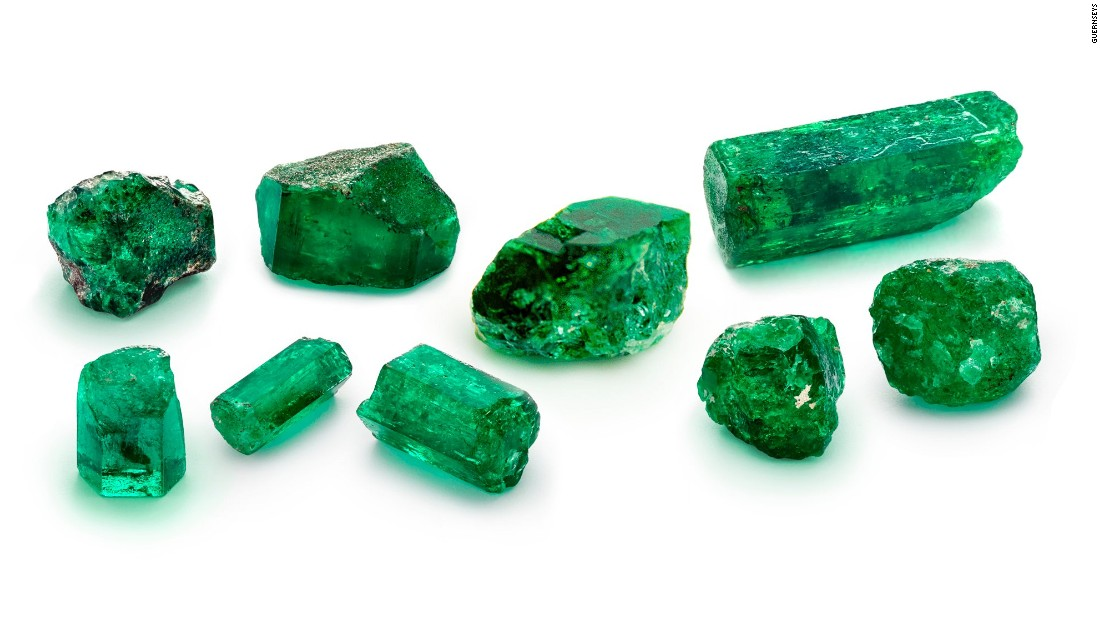 These nine loose emeralds were among the treasure found on the Nuestra Señora de Atocha wreckage, and weigh between 2.5 and 26.72 carats each. The name refers to the Spanish Pillars of Hercules that appear on Spanish coins.