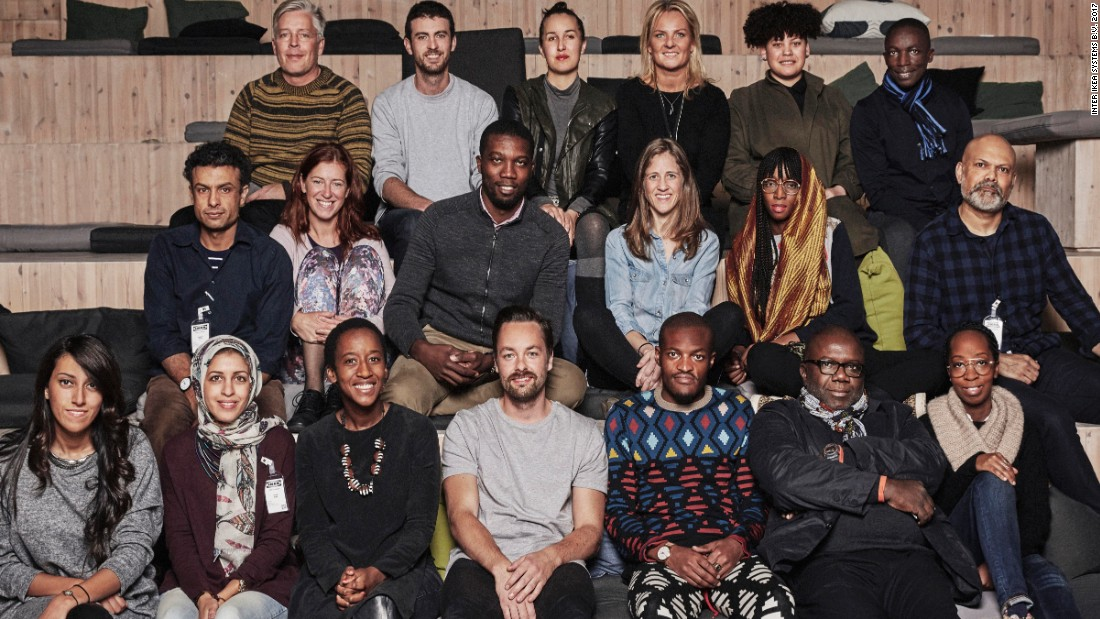 The design team working on Ikea's Africa collection, drawn from across the continent and a range of disciplines.