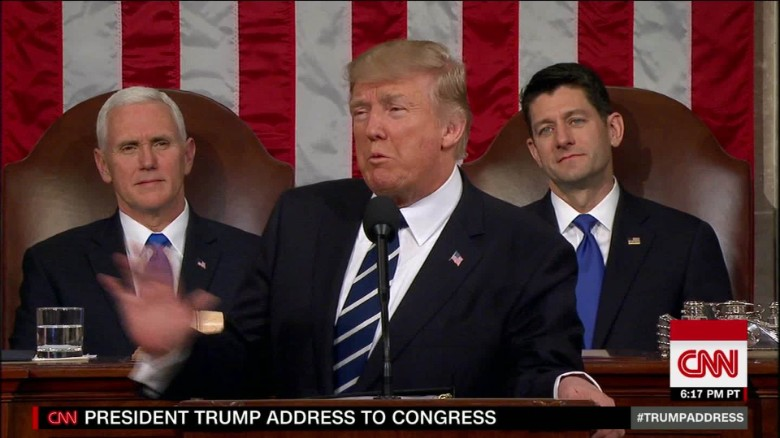Majority of Americans give positive ratings to Donald Trump's first Congress speech