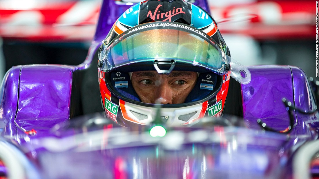 Argentine Jose Maria Lopez drives for the DS Virgin Racing Formula E team.