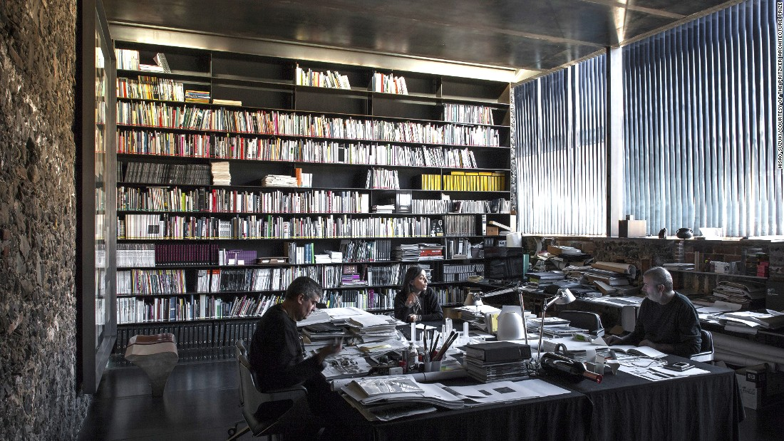 "This space, originally built in the 20th century, was made of wood, stone and ceramics that had been stained by fires. <a href=""http://www.rcrarquitectes.es/"" target=""_blank"">RCR Arquitectes</a> revamped it with steel and glass, turning it into a library and work space."