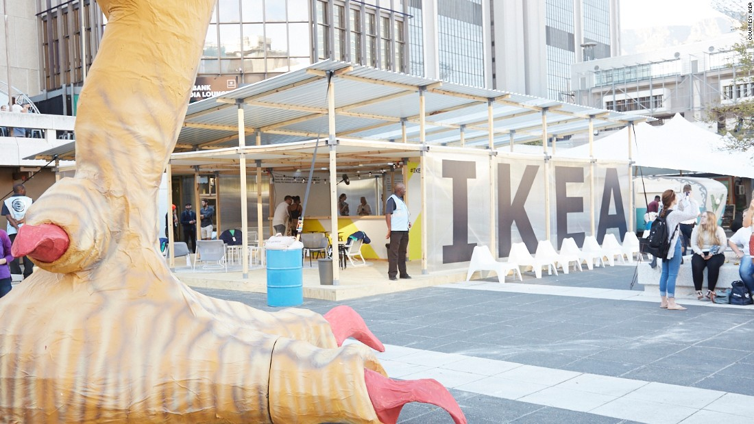 The Ikea house, designed by Ivorian architect Issa Diabate, at the 22nd Design Indaba conference in Cape Town, where the collaboration has been announced.