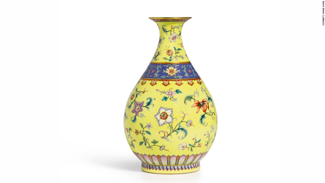 Chow says this vase was reportedly acquired from a Florida yard sale around 2002 and was subsequently sold for $1.2 million at a 2009 North Carolina auction by Brunk Auctions. It went on to fetch more than $7 million (HK$57,240,000) at a Sotheby's Hong Kong auction just five years later.