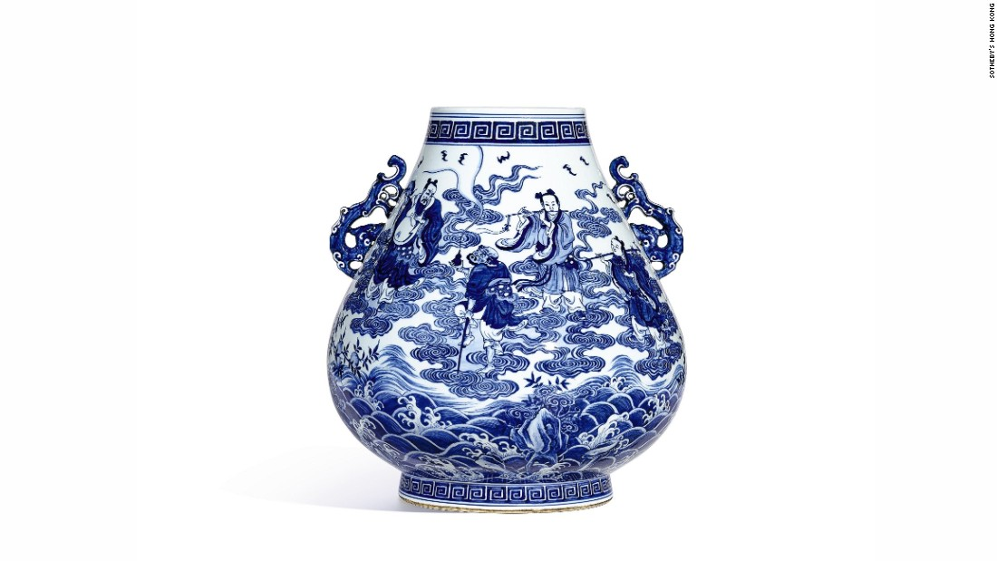 This rare vase first sold at a Sotheby's Hong Kong auction in 1980 for a little more than $32,000 (HK$253,000). It subsequently sold at a Sotheby's auction in 2016 for more than $5.7 million (HK$44,440,000).