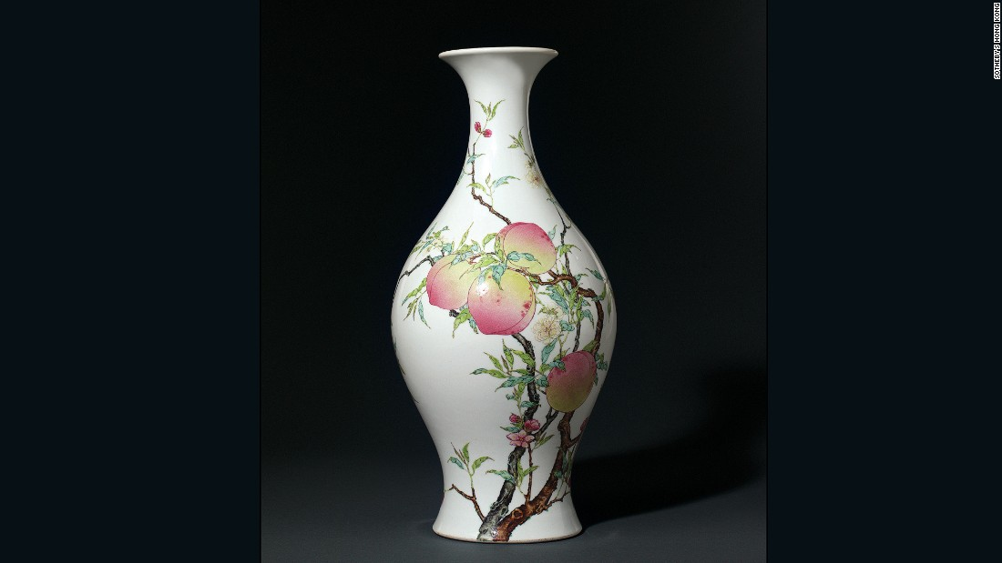 This vase spent several decades unprotected in the home of the former US ambassador to Israel and former publisher of the International Herald Tribune, Ogden Reid, who inherited the vase from his mother, according to Chow. Reid sold the vase at a Sotheby's Hong Kong auction in 2002 for $5.34 million (HK$41,500,000), an auction record for Qing Porcelain at that time.