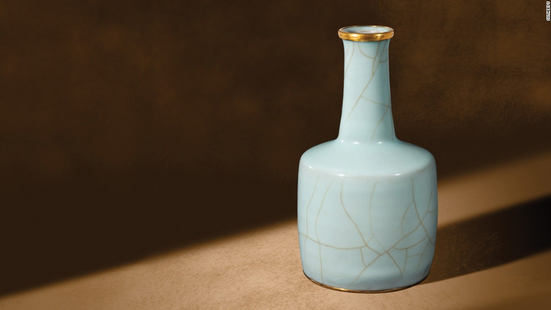 """One of my absolute favorite pieces is the Southern Song dynasty (12th-14th century) Guanyao vase. It belonged to the late Japanese dealer and collector Goro Sakamoto and it is something that none of us knew he owned until he asked me to go and sit in his tea ceremony room on my own,"" Chow says. ""It was an aesthetic revelation."" The vase sold at a Sotheby's 2008 auction for more than $8.6 million (HK$67,527,500)."
