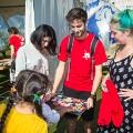 Workation Terminal 3 Social Impact Berlin August '16 with Refugees made cakes together