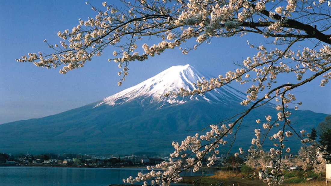 <strong>Mt. Fuji: </strong>The mountain is surrounded by five lakes -- Lake Kawaguchi, Lake Yamanaka, Lake Sai, Lake Motosu and Lake Shoji -- all of which provide the perfect foreground to appreciate the region's cherry blossoms.