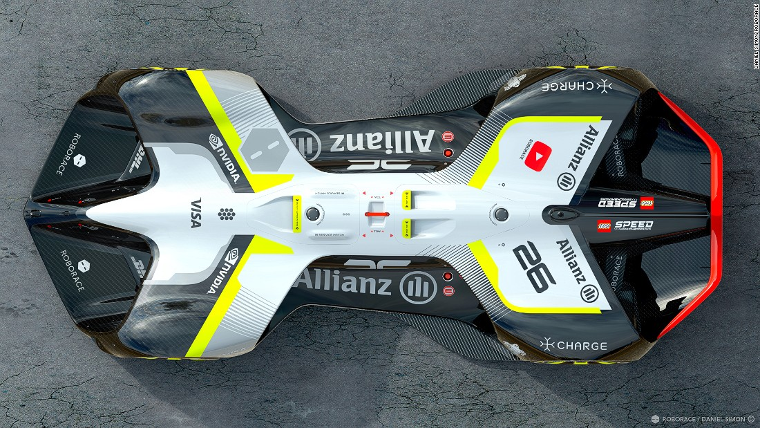 Automotive innovator Roborace has unveiled a design for the world's first self-driving, electric-powered 'Robocar.'