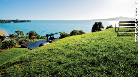 North Head has historically been used as a defensive site at the entrance to Auckland's inner harbor.