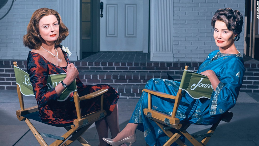 "Susan Sarandon, left, and Jessica Lange tackle the roles of Davis and Crawford in the new FX anthology series ""Feud,"" which promises a campy peek at the epic battle during the making of ""Baby Jane."" Writer-producer Ryan Murphy is the creative force behind the eight-episode show that follows on the heels of his success with ""<a href=""http://www.cnn.com/2017/02/16/entertainment/american-horror-story-season-7/"">American Horror Story</a>"" and ""<a href=""http://www.cnn.com/2016/02/03/entertainment/people-vs-oj-simpson-feat/"">The People Vs. O.J. Simpson: American Crime</a>."""