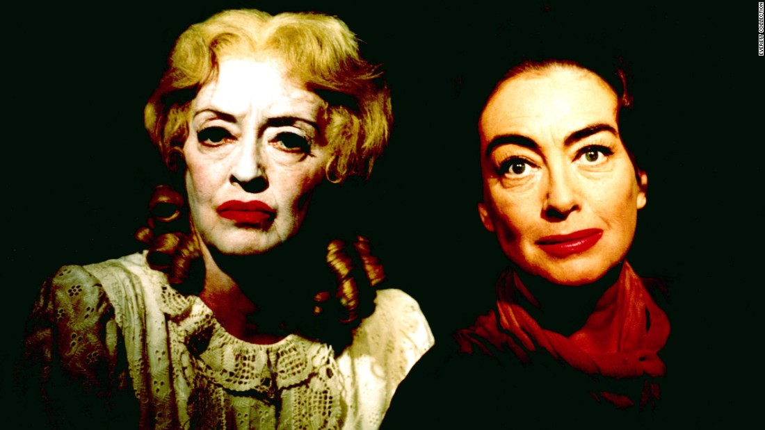 "Relishing character parts, Davis, left, tore into the role of Baby Jane Hudson, an alcoholic ex-child star who torments her crippled sister, Blanche. She was largely responsible for the character's macabre makeup. ""Jane's appearance, I felt, was fascinating -- and just exactly the way she would look,"" she told author Whitney Stine for the 1974 biography ""Mother Goddam."" ""I felt Jane never washed her face, just added another layer of makeup each day."""