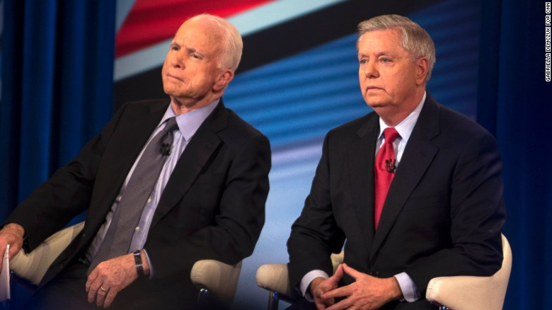 Graham and McCain town hall in 90 seconds