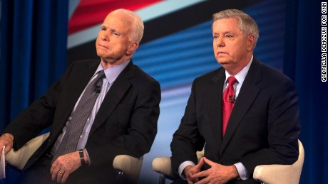 CNN town hall with US senators John MCcain and Lindsey Graham on Wednesday, March 1.