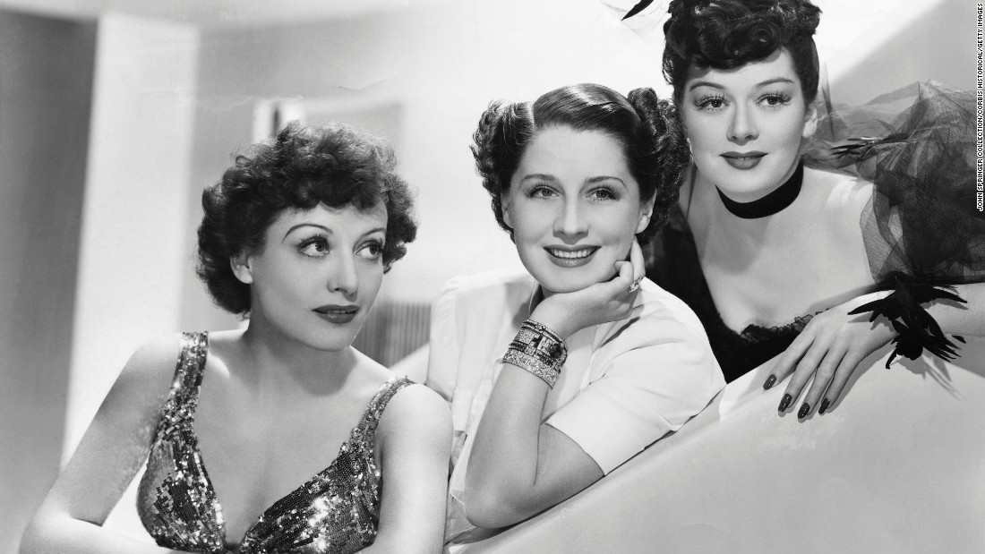 "Davis wasn't the first actress who Crawford, left, battled in Hollywood. Her struggles with Norma Shearer, center, the queen of MGM, during the making of ""The Women"" (1939) were likely warm-ups for ""Baby Jane."" Crawford resented that Shearer got all the top parts, mainly because her husband, Irving Thalberg, was the studio's production chief. In the George Cukor comedy from Clare Boothe Luce's play, Crawford was a salesgirl out to steal Shearer's husband -- an unsympathetic role that would pave the way for her tougher, grittier performances in the '40s. Rosalind Russell, right, also starred."