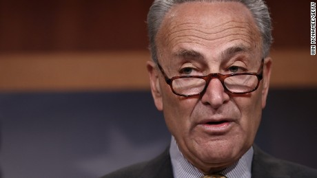 Senate Democratic Leader Chuck Schumer answers questions at the U.S. Capitol during a news conference on reports of U.S. Attorney General Jeff Sessions meeting with the Russian ambassador during the 2016 presidential campaign March 2, 2017.