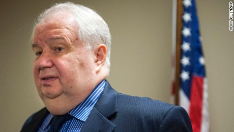FILE- In this Sept. 6, 2013, file photo, Sergey Kislyak, Russia's ambassador to the U.S. speaks with reporters at the Center for the National Interest in Washington. Attorney General Jeff Sessions had two conversations with Kislyak during the presidential campaign season last year, contact likely to fuel calls for him to recuse himself from a Justice Department investigation into Russian interference in the election, the Justice Department said Wednesday, March 1, 2017. (AP Photo/Cliff Owen, File)