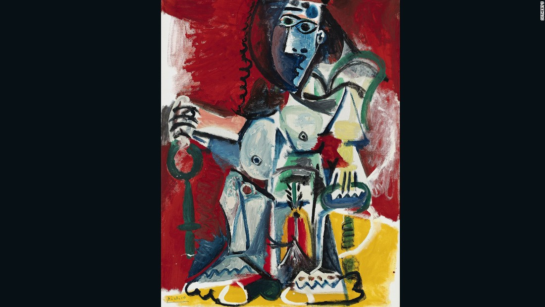 Sale price: $16,890,410 (£13,658,750) Estimate: $11.7m-$15.3 (£9.5m-£12.5m).