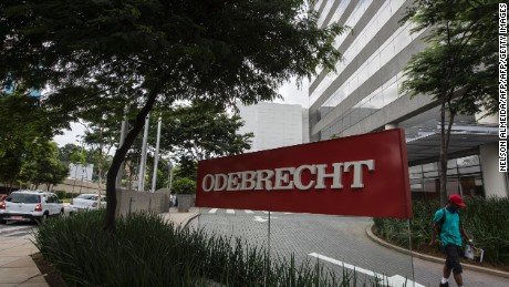 View of the headquarters of Brazilian construction giant Odebrecht SA in Sao Paulo, Brazil on March 2, 2017. For years, Brazil-based Odebrecht, one of the region's biggest construction companies, landed huge public works contracts across Latin America by paying hundreds of millions of dollars in bribes. / AFP PHOTO / NELSON ALMEIDA        (Photo credit should read NELSON ALMEIDA/AFP/Getty Images)