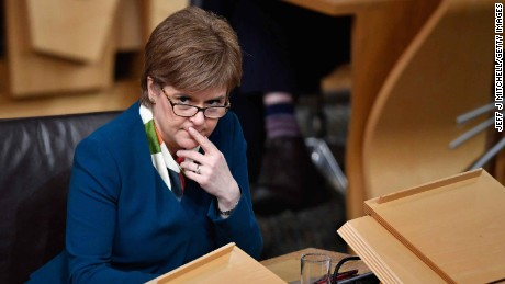 Scotland's First Minister Nicola Sturgeon is considering a second independence referendum.
